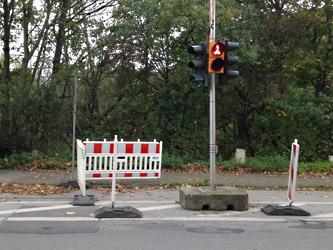 Gesicherte Querung für Fußgänger und Radfahrer