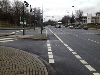 Radwege entlang der Bottroper Straße