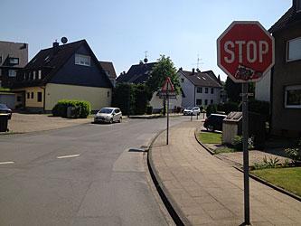 Am STOP-Schild